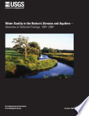 Water Quality In The Nation S Streams And Aquifers Overview Of Selected Findings 1991 2001 Book PDF