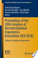 Proceedings of the 20th Congress of the International Ergonomics Association (IEA 2018)