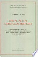 The primitive Cistercian breviary