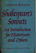 An Introduction to the Sonnets of Shakespeare