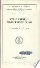 World Chemical Developments in 1936 Book