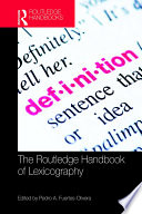 The Routledge Handbook of Lexicography