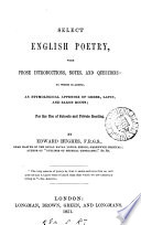 Select English poetry  with notes by E  Hughes
