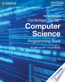 Books - Cambridge Igcse� Computer Science Programming Book For Microsoft� Visual Basic | ISBN 9781107518643