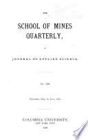 The School of Mines Quarterly