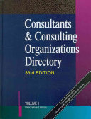 Consultants and Consulting Organizations Directory