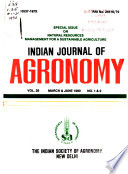 Indian Journal of Agronomy