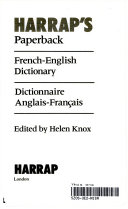 Harrap s Paperback French English Dictionary