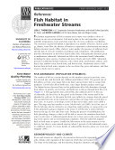 Fish Habitat in Freshwater Streams