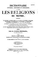 Dictionnaire universel historique et comparatif de toutes les religions du monde