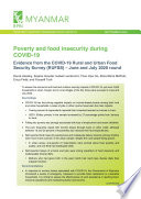 Poverty And Food Insecurity During Covid 19 Evidence From The Covid 19 Rural And Urban Food Security Survey Rufss June And July 2020 Round Book PDF
