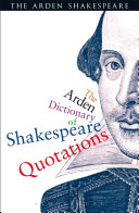 The Arden Dictionary Of Shakespeare Quotations Pdf/ePub eBook