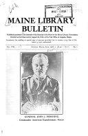 Maine Library Bulletin
