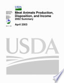 USDA  Meat Animals Production  Disposition  and Income 2002 summary