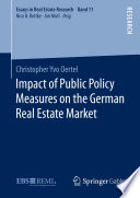 Impact Of Public Policy Measures On The German Real Estate Market