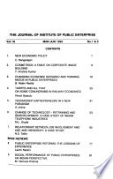 Journal of the Institute of Public Enterprise