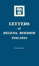 Letters of Helena Roerich  1935   1939