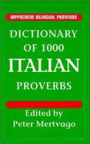 Dictionary of 1000 Italian Proverbs