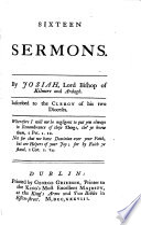 Sixteen Sermons