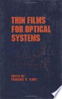 Thin Films For Optical Systems Book PDF