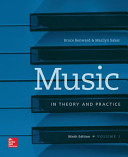 Music in Theory and Practice Vol I with Workbook
