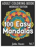 100 Easy Mandalas Midnight Edition