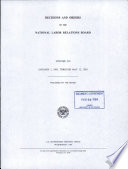 Decisions and Orders of the National Labor Relations Board Book