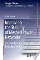 Improving The Stability Of Meshed Power Networks Book PDF