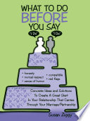 What to Do Before You Say  I Do