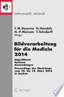 Bildverarbeitung F R Die Medizin 2014 Book PDF