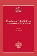 Churches and Other Religious Organisations as Legal Persons