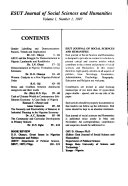Esut Journal Of Social Sciences And Humanities