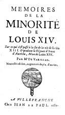 Memoires De La Minorite De Louis XIV