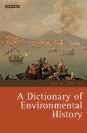 A Dictionary of Environmental History Pdf
