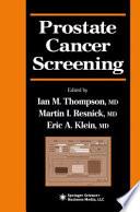 Prostate Cancer Screening Book PDF