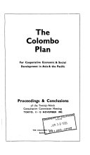 The Colombo Plan for Co operative Economic and Social Development in Asia and the Pacific