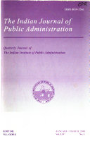 The Indian Journal Of Public Administration