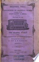 Bibliotheca Indica Book
