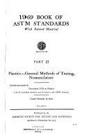 Book of ASTM standards; with related materials