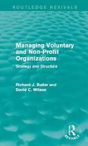 Managing Voluntary and Non-Profit Organizations Pdf/ePub eBook