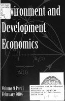 Environment and Development Economics