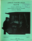 Tennessee Folklore Society Bulletin Book