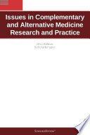 Issues In Complementary And Alternative Medicine Research And Practice 2012 Edition