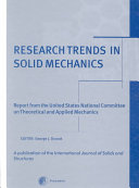 Research Trends in Solid Mechanics Book