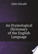 An Etymological Dictionary Of The English Language Book PDF
