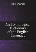 Pdf An Etymological Dictionary of the English Language