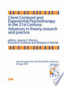 Client-centered and Experiential Psychotherapy in the 21st Century