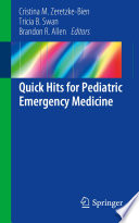 Quick Hits For Pediatric Emergency Medicine Book PDF