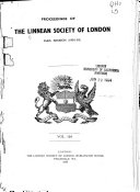 Proceedings of the Linnean Society of London