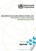 WHO Report on the Global Tobacco Epidemic, 2013